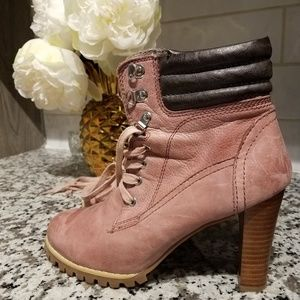 Blush/Pink Timberland Style Boots/Booties